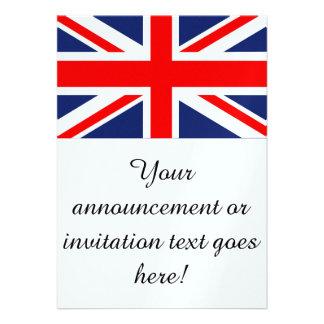 British Union Jack Flag Personalized Invites
