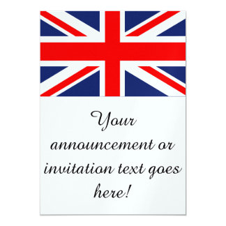 British Union Jack Flag 13 Cm X 18 Cm Invitation Card