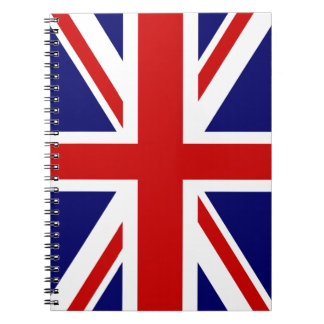 British Union Jack flag of England spiral notebook