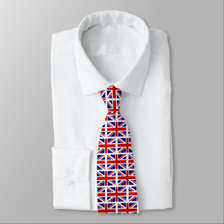 British Union Jack flag pattern neck tie gift idea