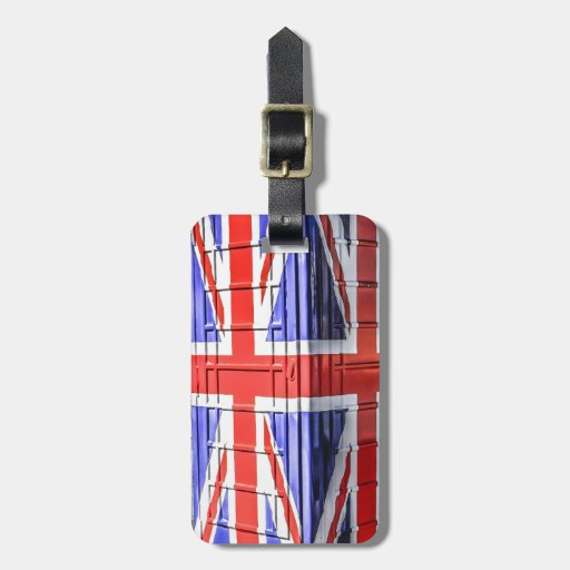 British Union Jack Flag Phone Box Tag For Bags