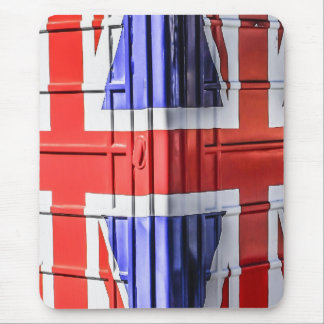 British Union Jack Flag Phone Box Mouse Pad