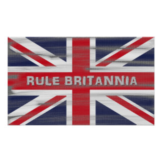 British Union Jack Flag Poster Print