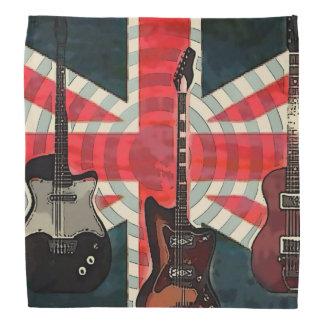 British Union Jack Flag Rock Roll Electric Guitar Bandana
