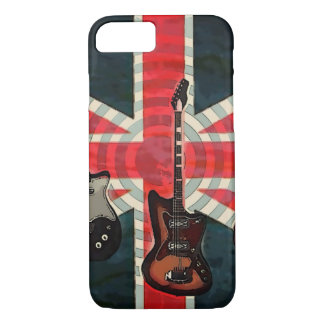 British Union Jack Flag Rock Roll Electric Guitar iPhone 7 Case