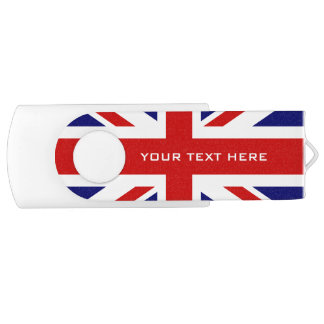 British Union Jack flag swivel USB flash drive