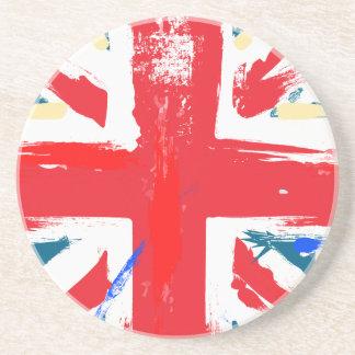 British Union Jack Flag Vintage Worn Coaster