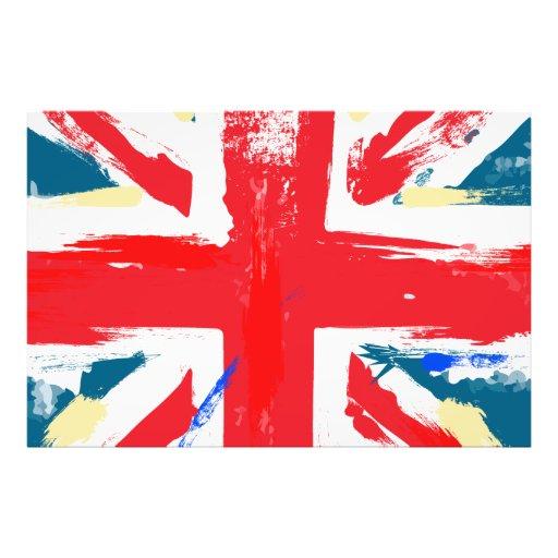 British Union Jack Flag Vintage Worn Art Photo