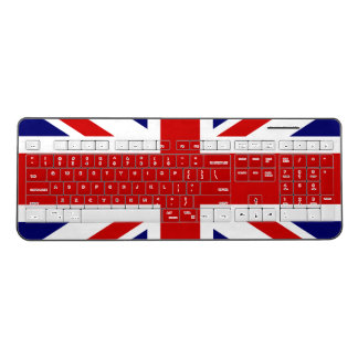 British Union Jack flag wireless computer keyboard