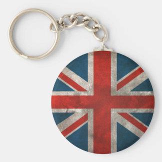 British Union Jack Basic Round Button Key Ring