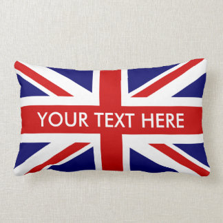 British Union Jack lumbar throw pillows