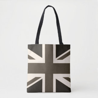 British Union Jack Sepia Antiqued Tote Bag