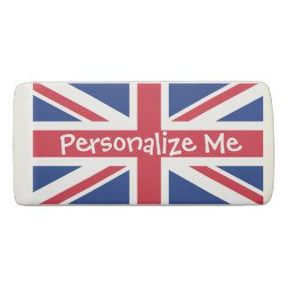 British United Kingdom Union Jack Personalised Eraser