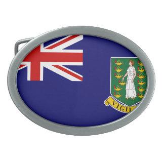 British Virgin Islands Oval Belt Buckle