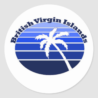 British Virgin Islands Classic Round Sticker