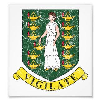 British Virgin Islands Coat Of Arms Art Photo