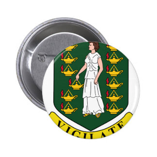 British Virgin Islands Coat Of Arms Pinback Button