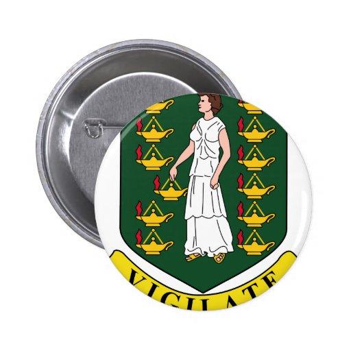 British Virgin Islands Coat Of Arms Pinback Button