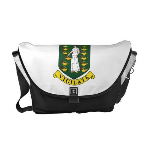 British Virgin Islands Coat Of Arms Courier Bags