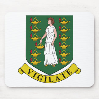 British Virgin Islands Coat of Arms Mouse Pad