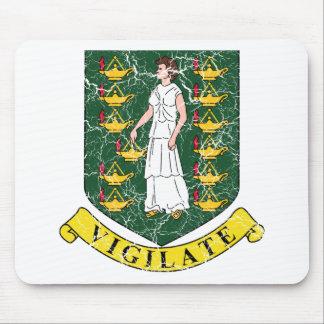 British Virgin Islands Coat Of Arms Mousepad