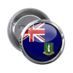 British Virgin Islands Flag 6 Cm Round Badge