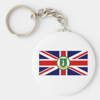 British Virgin Islands Flag Basic Round Button Key Ring
