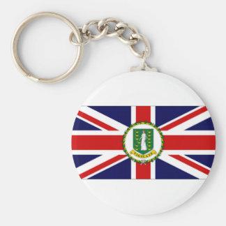 British Virgin Islands Flag Basic Round Button Key Ring