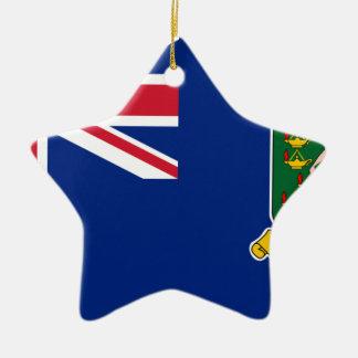 British Virgin Islands Flag Ceramic Ornament
