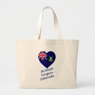 British Virgin Islands Flag Heart Tote Bag