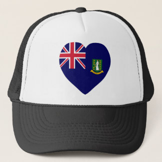 British Virgin Islands Flag Heart Trucker Hat