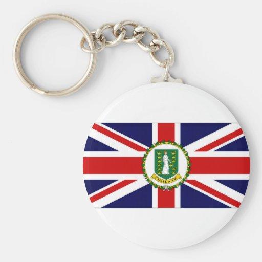 British Virgin Islands Flag Keychains