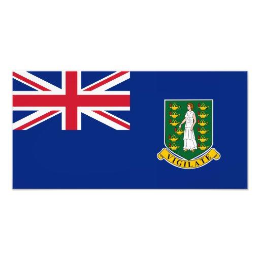 British Virgin Islands Flag Photographic Print
