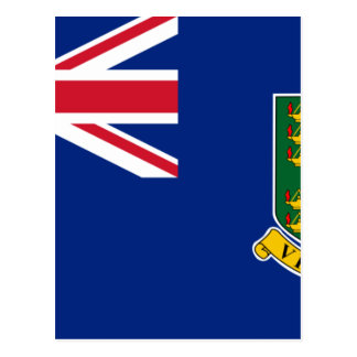 British Virgin Islands Flag Postcard