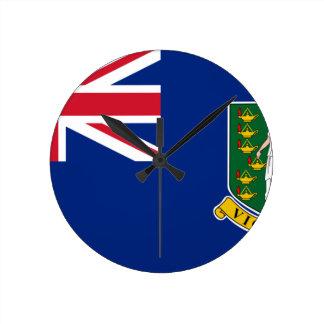 British Virgin Islands Flag Round Clock