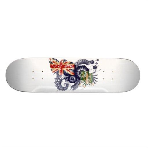 British Virgin Islands Flag Skate Boards