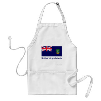 British Virgin Islands Flag with Name Standard Apron