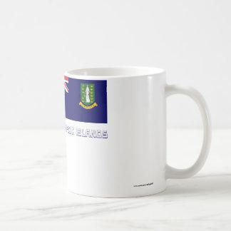 British Virgin Islands Flag with Name Basic White Mug