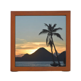 British Virgin Islands, Gordo Tortola Beach Sunset Desk Organiser