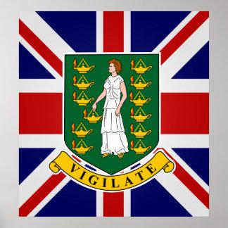 British Virgin Islands High quality Flag Print