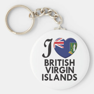 British Virgin Islands Love Key Chain
