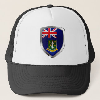 British Virgin Islands Mettalic Emblem Trucker Hat