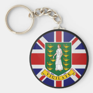 British Virgin Islands quality Flag Circle Keychain