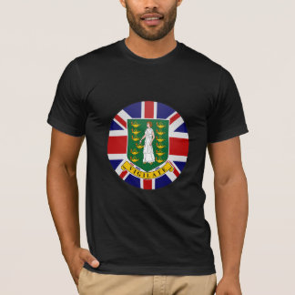 British Virgin Islands quality Flag Circle T-Shirt