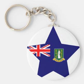 British+Virgin+Islands Star Keychains