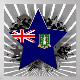 British Virgin Islands Star Print