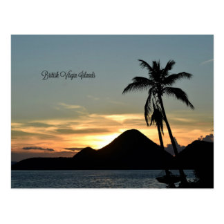 British Virgin Islands, Sunset Postcard