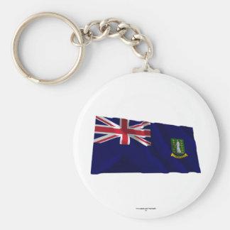 British Virgin Islands Waving Flag Key Chains