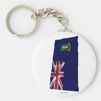 British Virgin Islands Waving Flag Keychain