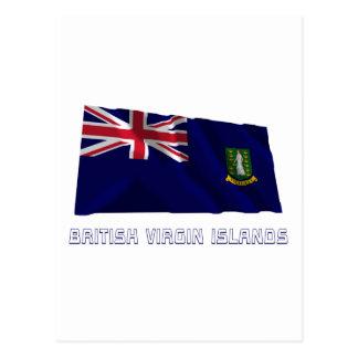 British Virgin Islands Waving Flag with Name Postcard